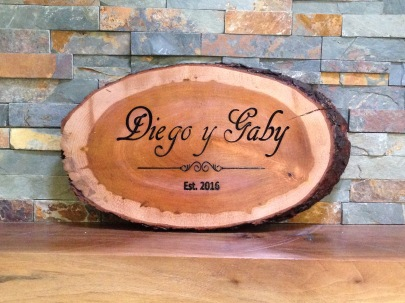 Cherry live edge wedding gift