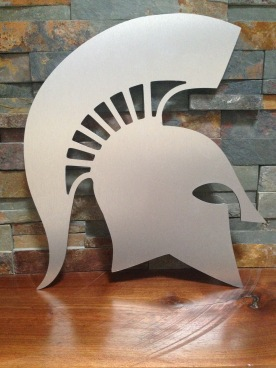 ALuminum Spartan man cave wall art