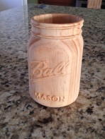 Our Wooden Mason Jar project that was featured in the cnccookbook blog! http://blog.cnccookbook.com/2016/01/12/whats-entry-level-cnc-machine-capable/