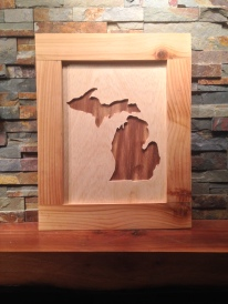 Cedar and pine Michigan decor