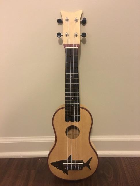 Custom made soprano ukulele, see more details and video here: https://obannoncustomdesigns.com/2016/11/15/a-ukulele/