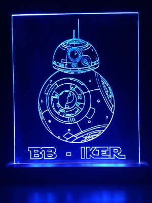 Edge lit Star Wars sign