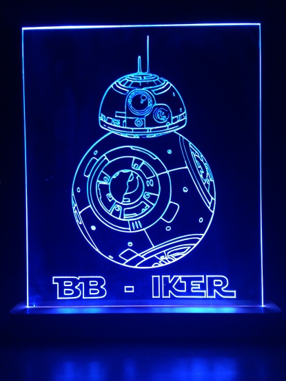 Edge lit Star Wars sign